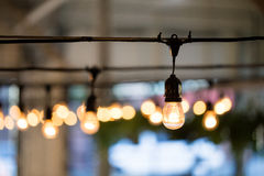 Wedding Reception String Lights stock images
