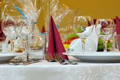 Wedding reception table Stock Images