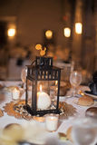 Wedding reception table Stock Photos