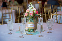 Wedding Reception Table Centerpieces Stock Image