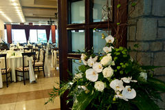 Wedding reception and table decoration Stock Photography