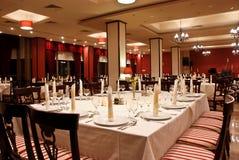 Wedding reception table decoration Stock Photo