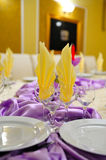 Wedding reception table decoration Stock Photos