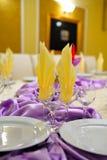 Wedding reception table decoration Stock Photos