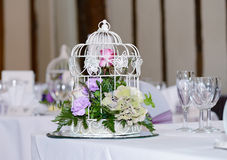 Wedding Reception Table Decoration Stock Photo