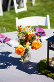 Wedding Reception Table Details Stock Photo