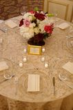 Wedding reception table and flowers Royalty Free Stock Image