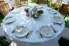 Wedding reception table Stock Photos
