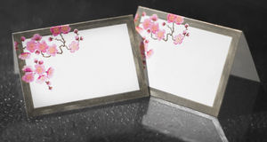 Wedding Reception Table Place Cards Royalty Free Stock Photos