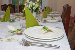 Wedding reception table setting Royalty Free Stock Photos