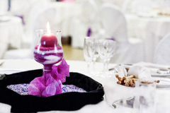 Wedding reception table Stock Photography