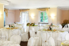 Wedding reception table Royalty Free Stock Images