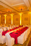 Wedding Reception Tables and Chairs Stock Image