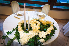 Wedding reception tables Stock Photography