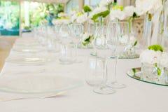 Wedding reception tables stock photos