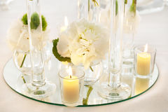 Wedding reception tables. Tables decorated for a party or wedding reception Royalty Free Stock Photography