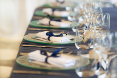 Wedding reception tables royalty free stock photography