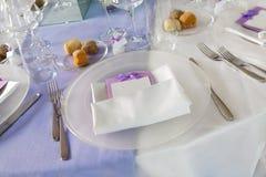 Wedding reception tables stock photo