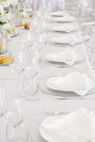 Wedding reception tables Stock Photos