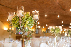 Wedding reception. Tables decorated for a party or wedding reception Royalty Free Stock Image