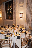 Wedding reception venue at night Royalty Free Stock Photography