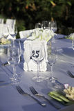 Wedding Reception. Wedding table outdoor. stock photo
