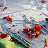 Wedding Reception, wedding table outdoor. royalty free stock images