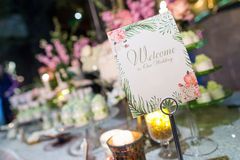 Wedding reception Stock Photos