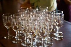 Wedding Reception Wine Glasses Royalty Free Stock Photos