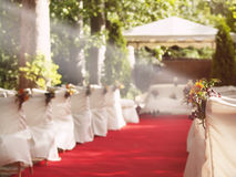 Wedding red carpet to Altar Royalty Free Stock Images
