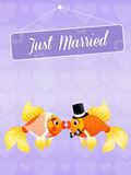Wedding of red fishes Stock Photography
