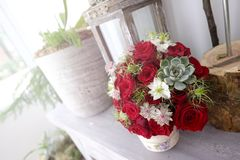 Wedding red roses bouquet Royalty Free Stock Photography