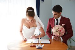 wedding register Stock Photography
