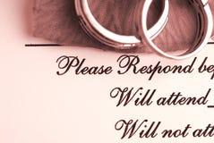 Wedding Reservation Stock Photo