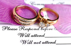 Wedding Reservation Stock Photography