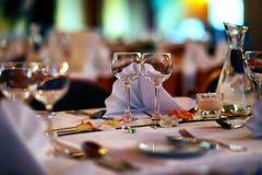 Wedding restaurant Royalty Free Stock Photos