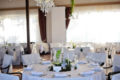 Wedding restaurant decor Royalty Free Stock Photos