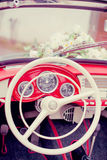 Wedding Retro- Auto Lizenzfreies Stockfoto