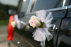 Wedding retro car decoration Stock Photography