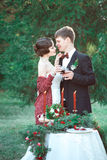 A wedding in retro style Royalty Free Stock Image