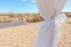 Wedding ribbon in the wind. Royalty Free Stock Images