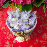 Wedding rice. A basket of rice for wedding Stock Image