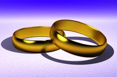 The wedding ring. Gold wedding rings on a beautiful background Royalty Free Stock Images