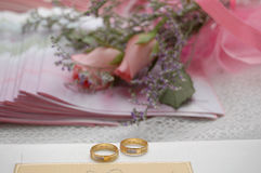 Wedding ring. As a symbol of eternal love Royalty Free Stock Photography