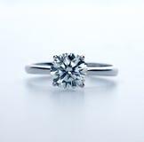 Wedding ring. Two carat  diamond ring Stock Photos