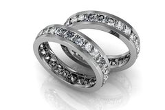 Wedding ring. The beauty wedding ring(high resolution 3D image Stock Photos