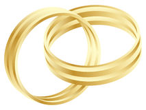 Wedding ring. Golden wedding ring vector illustration Stock Images