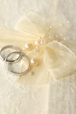 Wedding Ring. With a pearls stock image