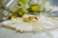 Wedding ring. Preparation before the wedding Stock Image