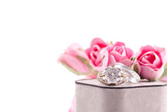 Wedding Ring And Band Stock Images